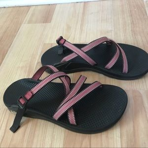 b2b260ce3e9b Chaco Shoes - Women s Chaco Red   White Sandals - Wrapsody Style
